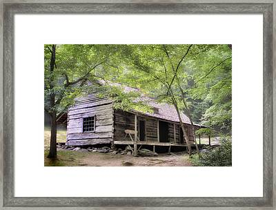 Ogle Homestead - Smoky Mountain Rustic Cabin Framed Print by Thomas Schoeller
