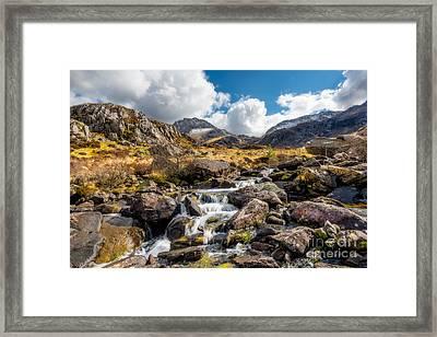 Ogwen Valley Rapids Framed Print by Adrian Evans