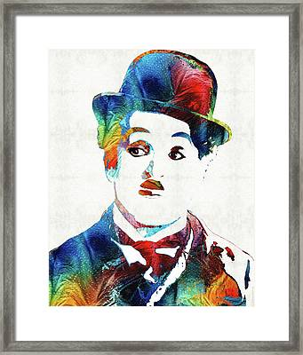 Oh Charlie - Charlie Chaplin Tribute Framed Print by Sharon Cummings
