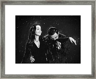 Oh Tish I Love It When You Speak French - The Addams Family  Framed Print by Taylan Soyturk