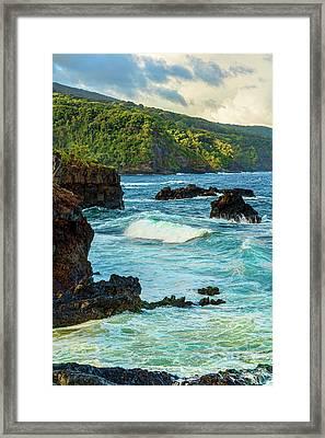 Ohe'o Gulch Ocean View Framed Print by Kelley King