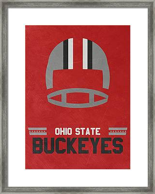 Ohio State Buckeyes Vintage Football Art Framed Print by Joe Hamilton