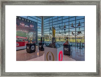 Ohio State Football National Championship Trophy Framed Print by Scott McGuire