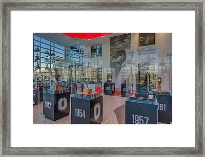 Ohio State Football National Championship Trophy Woody Hayes Mural Framed Print by Scott McGuire