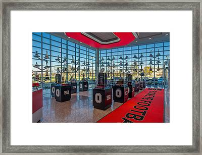Ohio State Football Trophy Collection Framed Print by Scott McGuire