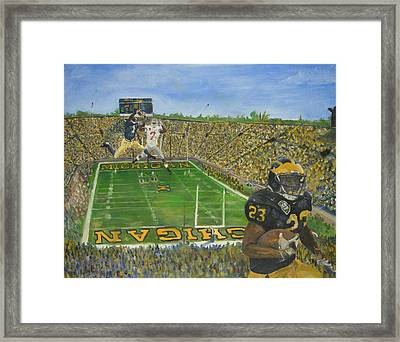 Ohio State Vs. Michigan 100th Game Framed Print by Travis Day