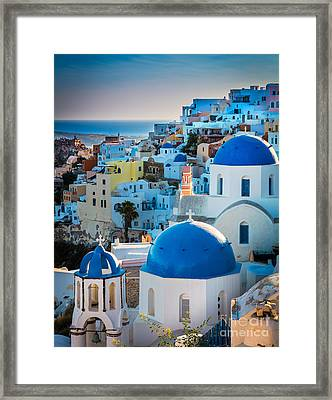 Oia Town Framed Print by Inge Johnsson