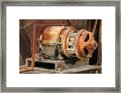 Oil Field Electric Motor Framed Print by Art Block Collections