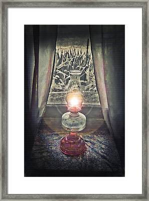 Oil Lamp - Still Life Framed Print by Steve Ohlsen
