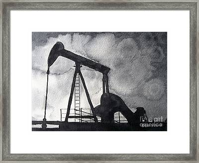 Oil Jack Framed Print by Don Hand