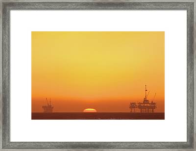 Oil Rig Framed Print by Eric Lo