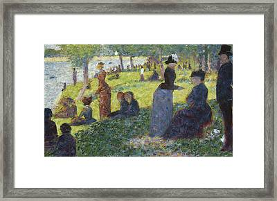 Oil Sketch For La Grande Jatte Framed Print by Georges Pierre Seurat