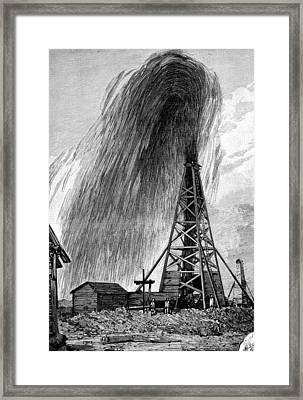 Oil Well, 19th Century Framed Print by