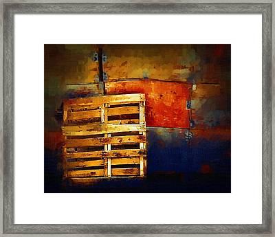 Okanagan Pallet Framed Print by Bill Kellett