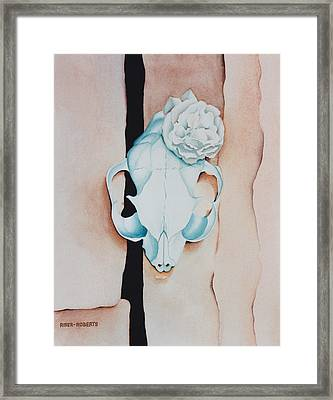 O'keeffe's Cat Framed Print by Eve Riser Roberts