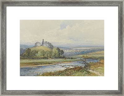 Okehampton Castle Framed Print by Frederick John Widgery