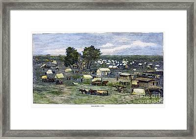 Oklahoma City, 1889 Framed Print by Granger