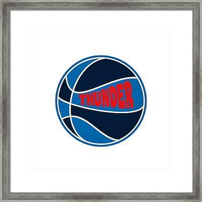 Oklahoma City Thunder Retro Shirt Framed Print by Joe Hamilton