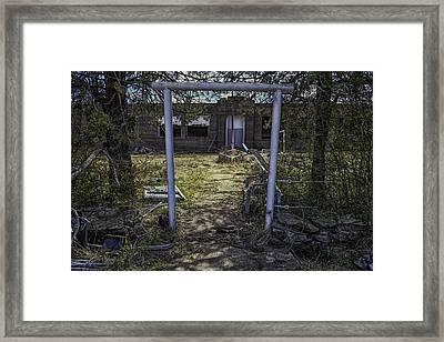 Oklahoma Forgotten School Framed Print by David Longstreath