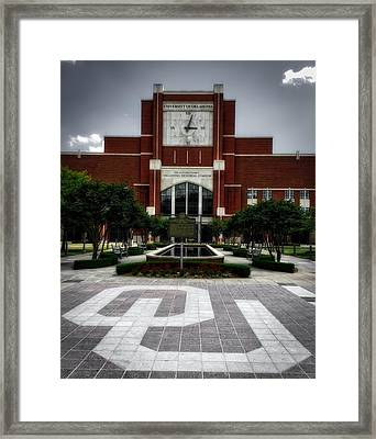 Oklahoma Memorial Stadium Framed Print by Center For Teaching Excellence