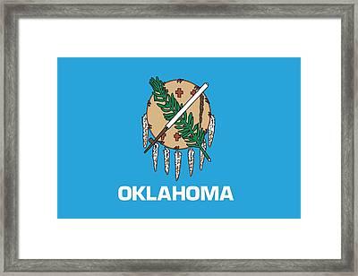 Oklahoma State Flag Framed Print by American School