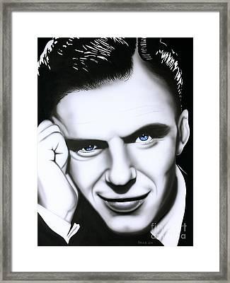 Ol' Blue Eyes Framed Print by Bruce Carter