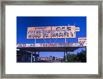 Old 66 Trading Post Framed Print by Garry Gay