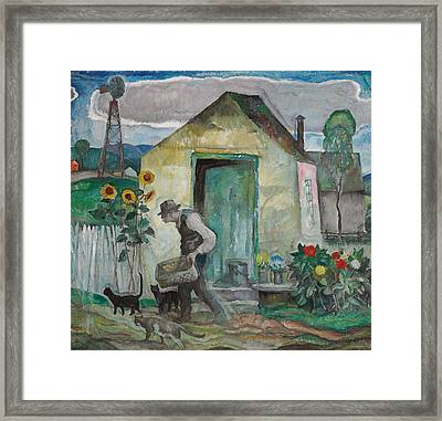 Old Albert  Framed Print by Newell Convers Wyeth