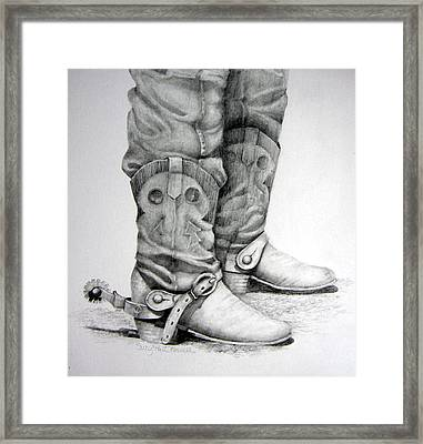 Old And Wrinkled Framed Print by Suzy Pal Powell