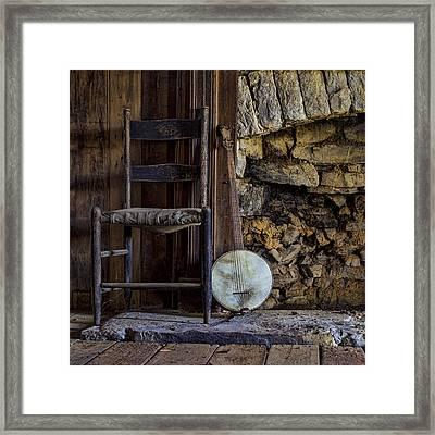 Old Banjo Framed Print by Heather Applegate
