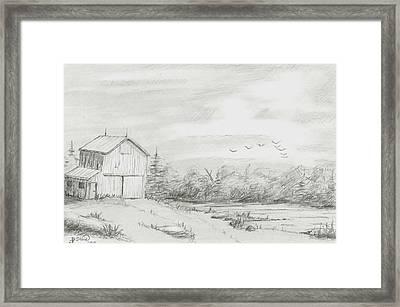 Old Barn 2 Framed Print by BJ Shine