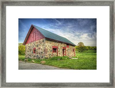 Old Barn At Dusk Framed Print by Scott Norris