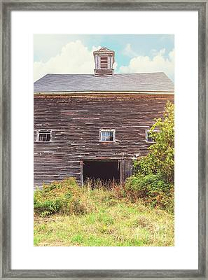 Old Barn In The Sun Framed Print by Edward Fielding