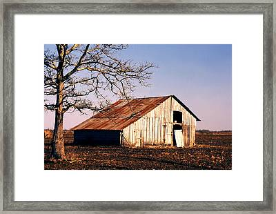 Old Barn Framed Print by John Foote
