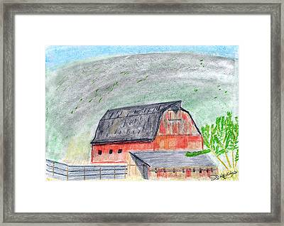 Old Barn Framed Print by John Hoppy Hopkins