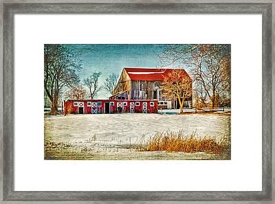 Old Barn On Forrest Road Framed Print by Carolyn Derstine