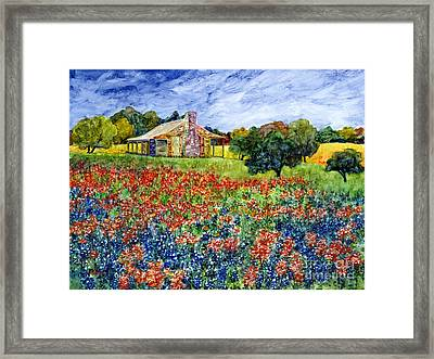 Old Baylor Park Framed Print by Hailey E Herrera