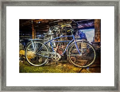 Old Blue Framed Print by Debra and Dave Vanderlaan