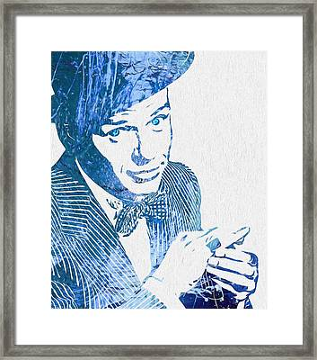 Old Blue Eyes Framed Print by Dan Sproul