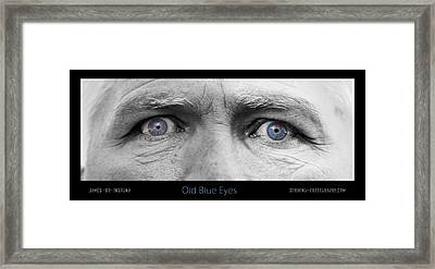 Old Blue Eyes Poster Print Framed Print by James BO  Insogna