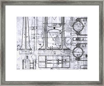 Old Blueprints Framed Print by Yali Shi