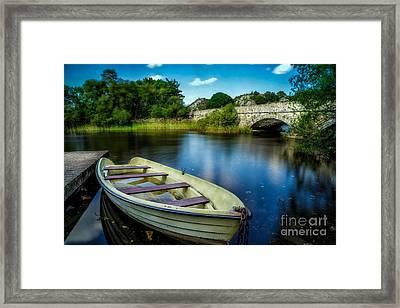 Old Boat Framed Print by Adrian Evans