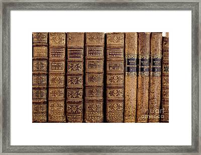 Old Books Framed Print by Edward Fielding
