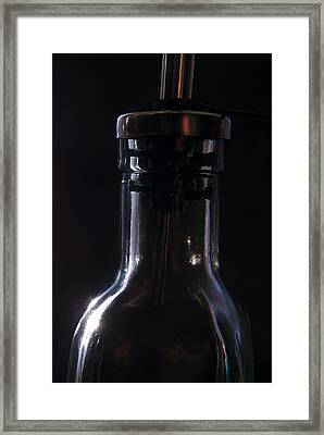 Old Bottle Framed Print by Steve Somerville