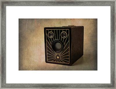 Old Box Camera Framed Print by Garry Gay