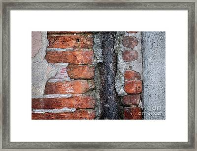Old Brick Wall Abstract Framed Print by Elena Elisseeva