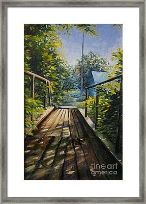 Old Bridge Framed Print by Anna Berezina