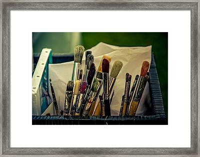 Old Brushes Framed Print by Odd Jeppesen