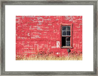 Old Building Red Wall Framed Print by Todd Klassy