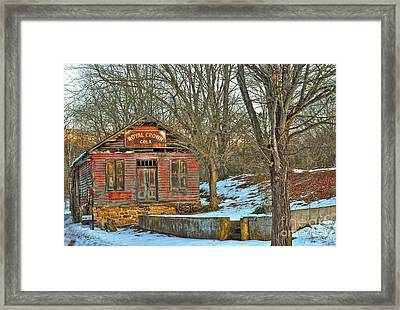 Old Building Framed Print by Todd Hostetter